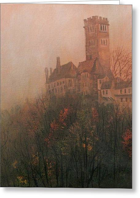 Castle On The Hill Greeting Card by Tom Shropshire