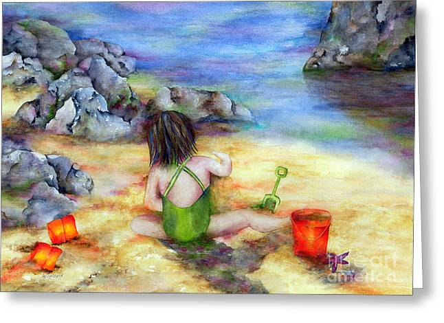 Castles in the Sand Greeting Card by Winona Steunenberg
