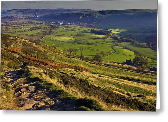 Castleton In The Hope Valley Greeting Card by Darren Burroughs