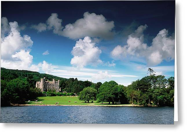 Castlewellan Castle & Lake, Co Down Greeting Card by The Irish Image Collection