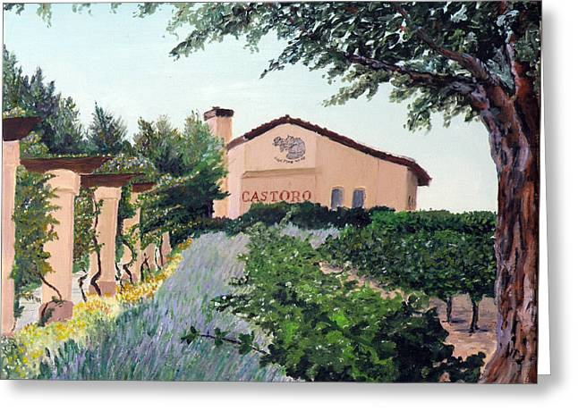 Castoro Winery Greeting Card by Barbara Willey
