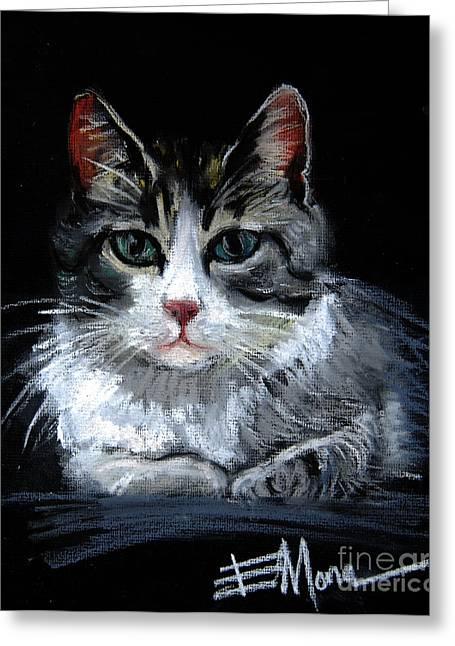 Cat 2 Greeting Card by Mona Edulesco