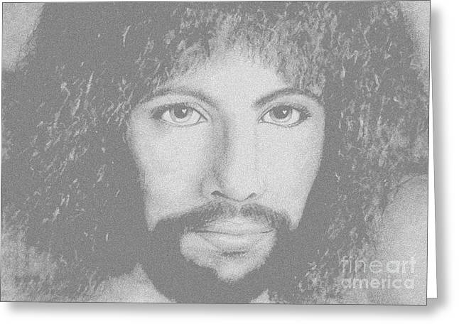 Cat Stevens Greeting Card by Denise Haddock