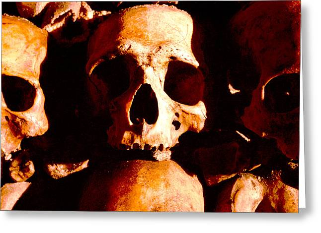 Catacombs In Paris Greeting Card by Julie VanDore