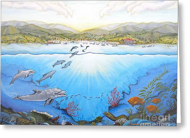 Catalina Island California Greeting Card by Jerome Stumphauzer