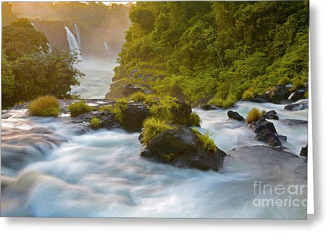 Cataratas Del Iguaz Greeting Card by Keith Kapple