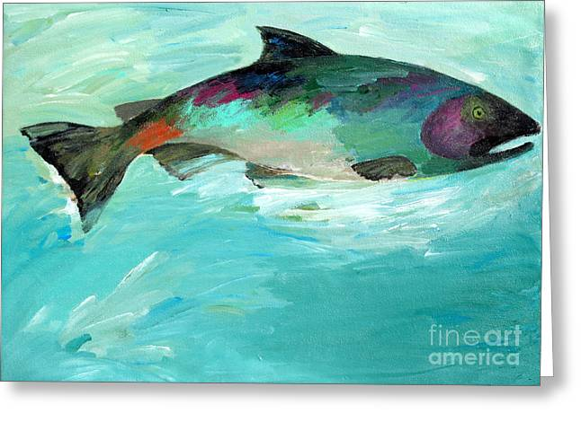 Catch 2 Greeting Card by Lisa Baack