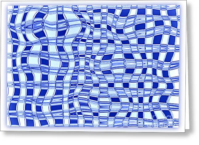 Catch A Wave - Blue Abstract Greeting Card by Carol Groenen