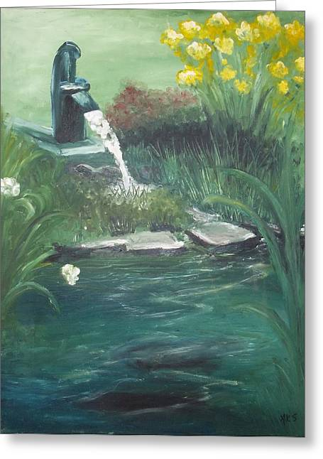 Greeting Card featuring the painting Catfish by Angela Stout