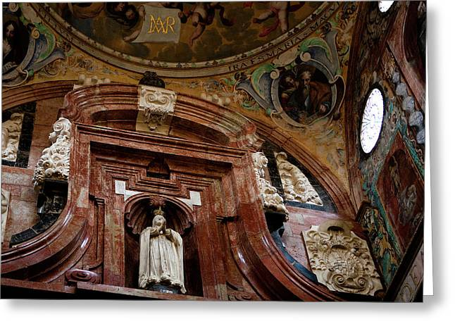 Greeting Card featuring the photograph Cathedral Ceiling Detail by Lorraine Devon Wilke