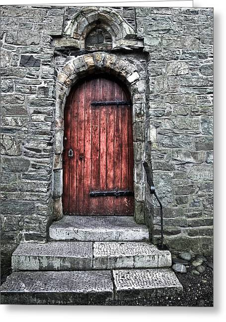 Cathedral Door Greeting Card by Patrick  Flynn