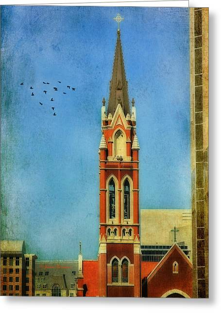 Greeting Card featuring the photograph Cathedral by Joan Bertucci