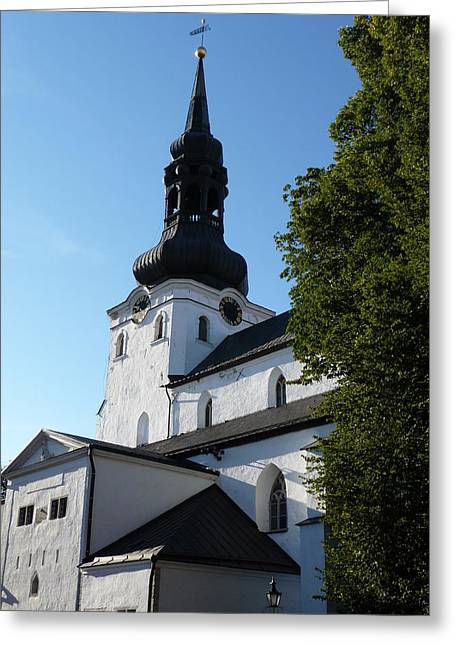 Cathedral Of Saint Mary The Virgin In Tallinn Greeting Card by Christopher Mullard