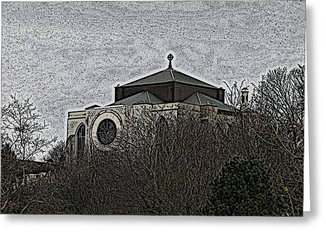 Cathedral On The Hill Greeting Card