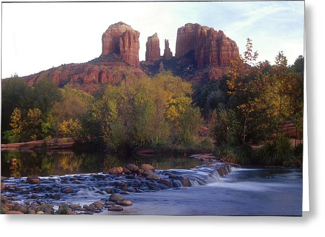 Greeting Card featuring the photograph Cathedral Rock by Darleen Stry
