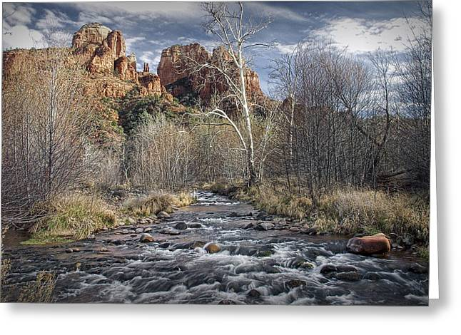 Cathedral Rock In Sedona Greeting Card by Randall Nyhof