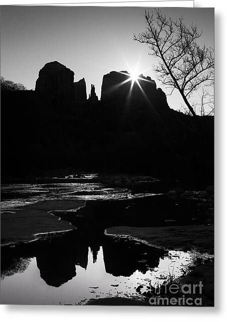 Cathedral Rock Sunrise Sedona Arizona Greeting Card