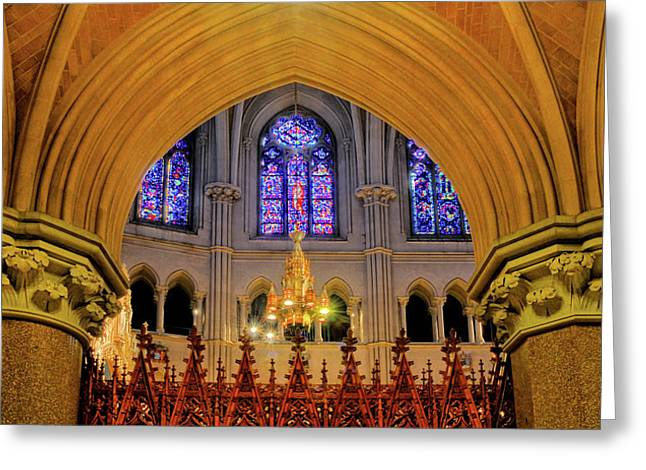 Cathedral Study Greeting Card by Dave Mills