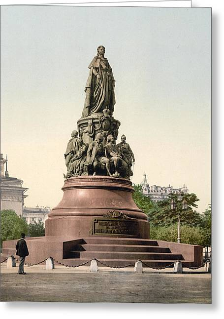 Catherine II Monument In St. Petersburg Russia Greeting Card by International  Images