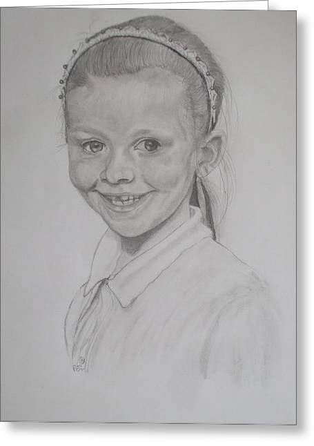 Catherine's Grandaughter Greeting Card by Peter Edward Green