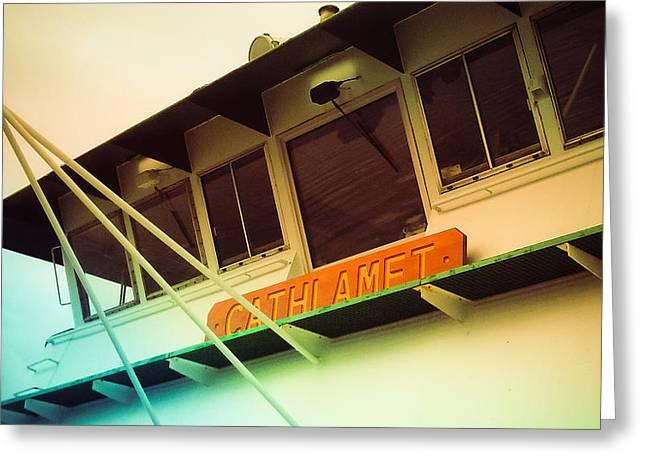 Cathlamet Ferry Greeting Card