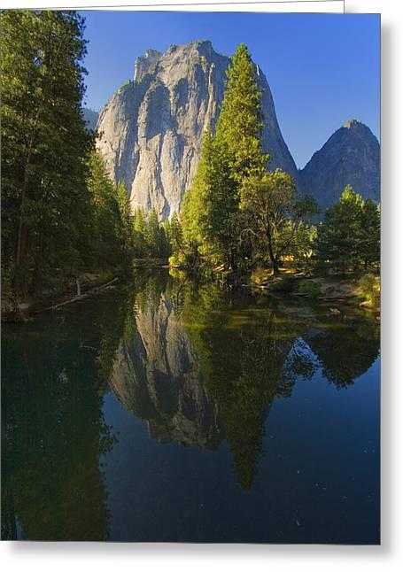 Cathredal Rocks Reflection Greeting Card by Joe Darin