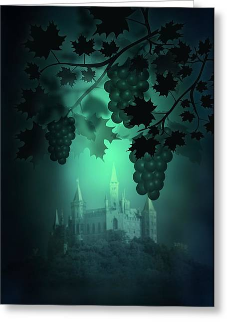 Catle And Grapes Greeting Card by Svetlana Sewell