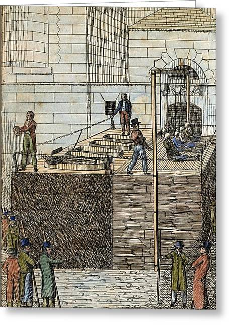 Cato Street Conspiracy Executions Greeting Card by Middle Temple Library