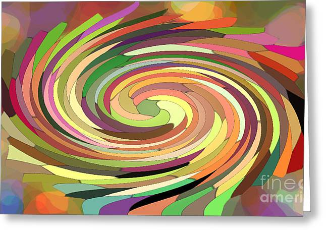 Cat's Tail In Motion. Stained Glass Effect. Greeting Card by Ausra Huntington nee Paulauskaite