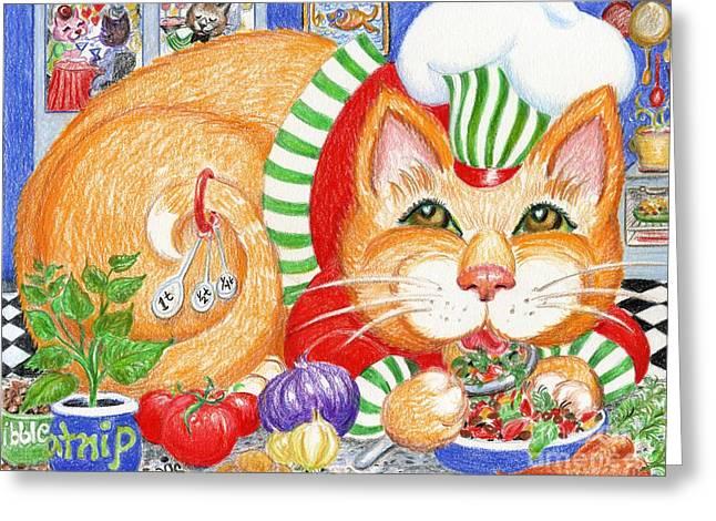 Catzi Cacciatore Greeting Card by Dee Davis