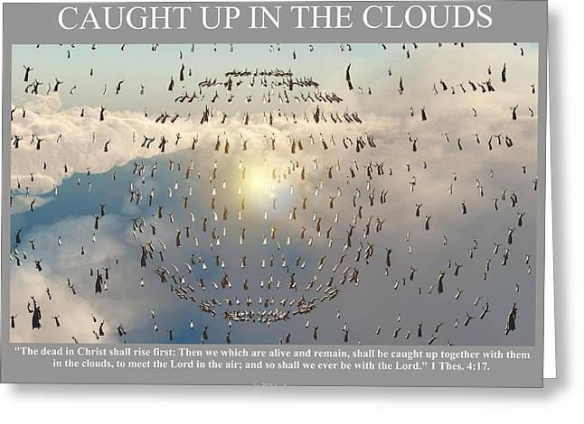 Caught Up In The Clouds Greeting Card