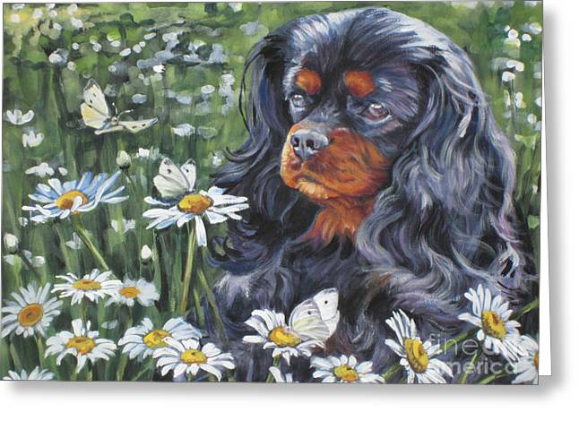 Cavalier King Charles In The Wildflowers Greeting Card