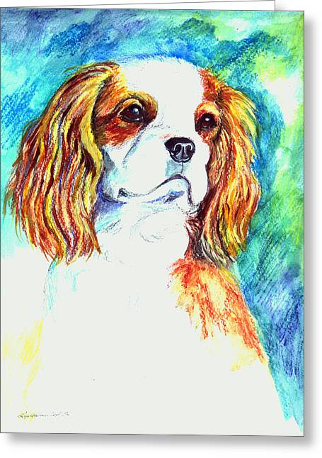 Cavalier King Charles Spaniel Greeting Card by Lyn Cook