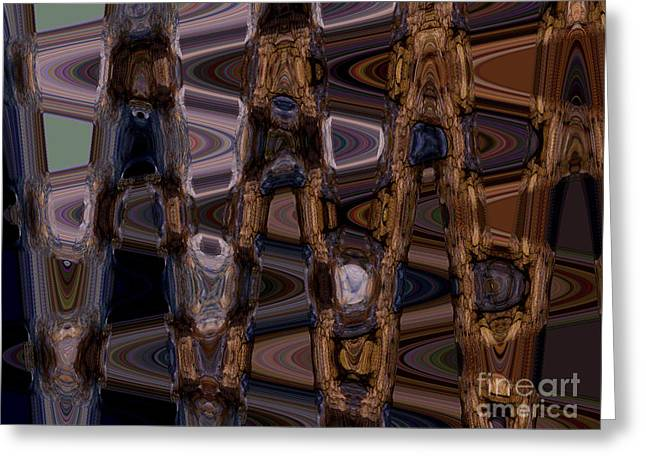 Cave Abstract 5 Greeting Card by Tashia Peterman