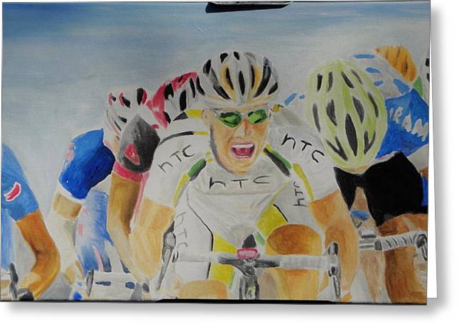 Cavendish Wins Greeting Card by James Lopez
