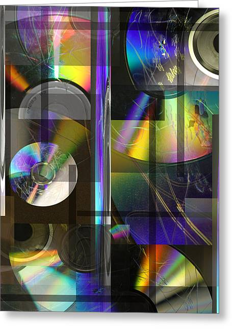 CDs Greeting Card by Andrew Sliwinski