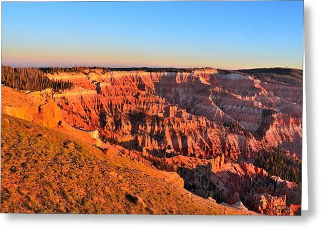 Cedar Breaks Sunset Greeting Card by Mark Bowmer