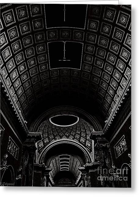 Greeting Card featuring the photograph Ceiling. Vatican by Tanya  Searcy