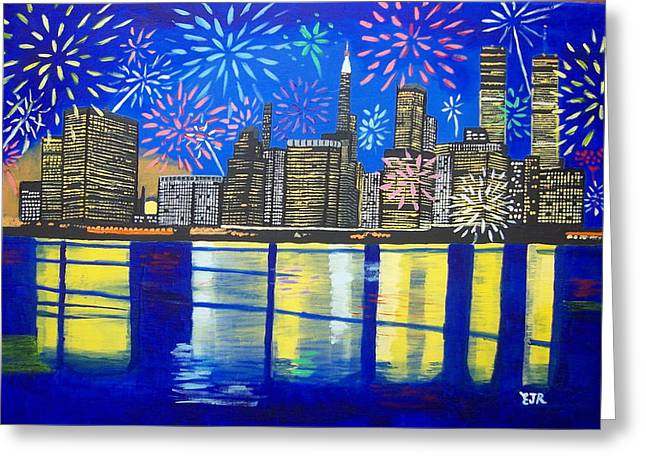 Celebrate New York Your Spirit Will Never Die Greeting Card by Eamon Reilly