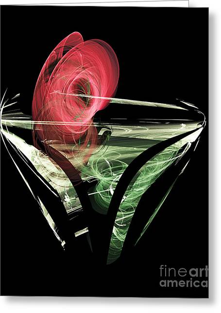 Celebrate With A Cocktail Greeting Card by Ed Churchill