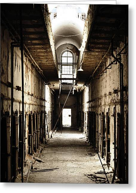 Cell Block Number 9 Greeting Card by Bill Cannon