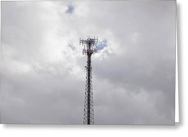 Cell Phone Tower Greeting Card by Paul Edmondson