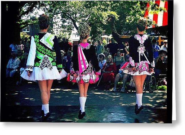 Celtic Dancing @ Syttende Mai Greeting Card