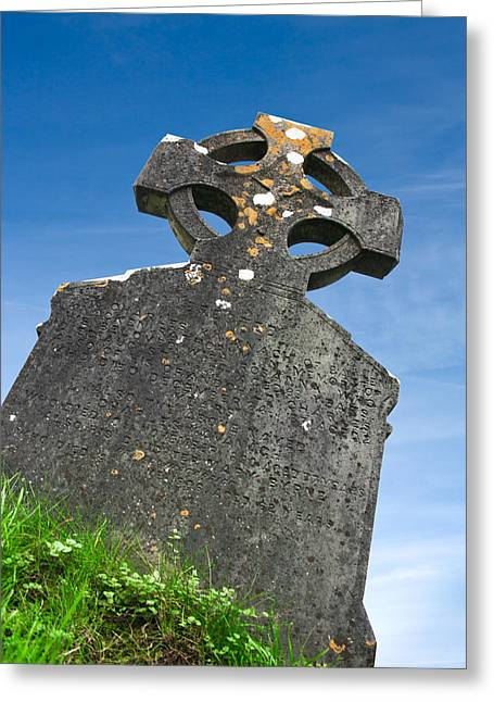Celtic Grave Stone Greeting Card