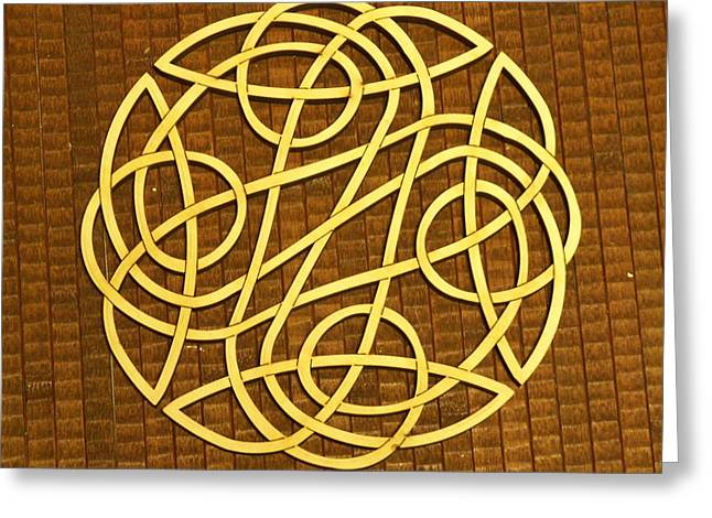 Celtic Knot Greeting Card by Keith Cichlar