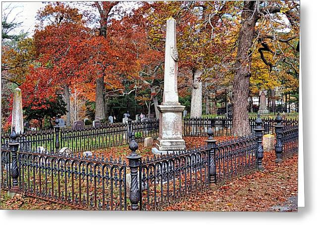 Cemetery Scenery Greeting Card by Janice Drew