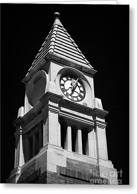Cenotaph Clock Tower Niagara-on-the-lake Ontario Canada Greeting Card by Joe Fox
