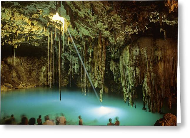 Cenote Dzitnup Greeting Card by Cliff Wassmann