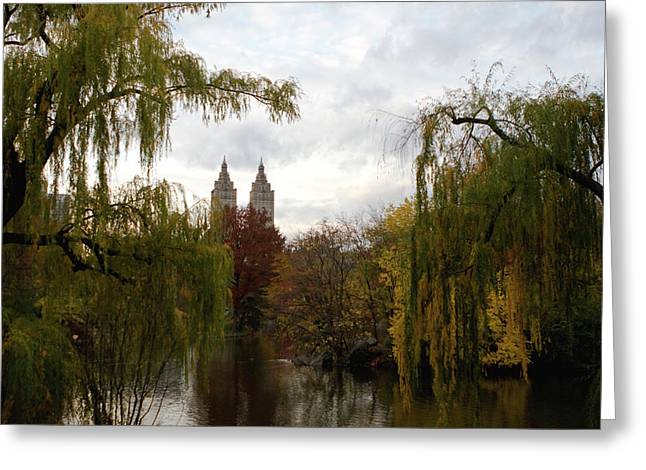 Greeting Card featuring the photograph Central Park Autumn by Lorraine Devon Wilke