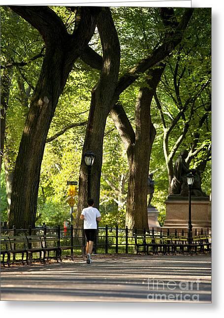 Central Park Jogging Greeting Card